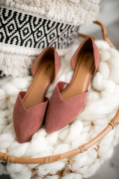 Have A Little Faith Flats (Mauve)