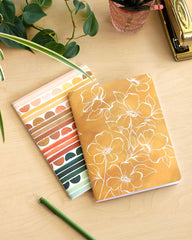 Golden Poppy Slim Notebook Set