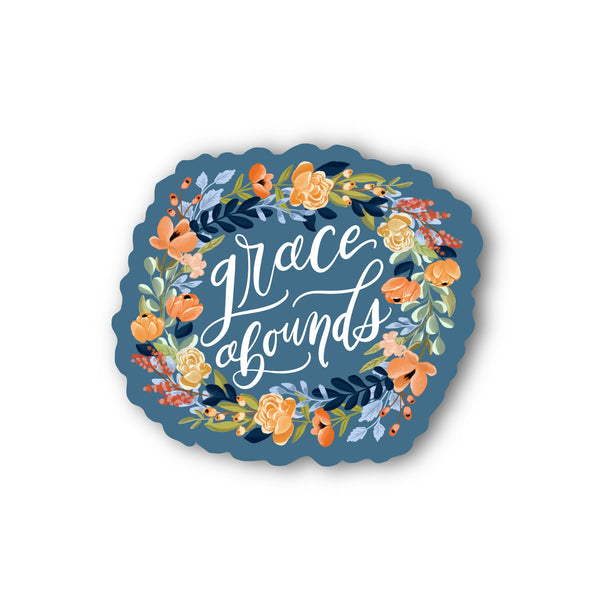 Grace Abounds Sticker