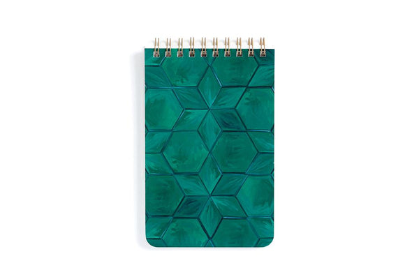 Green Tile Notebook
