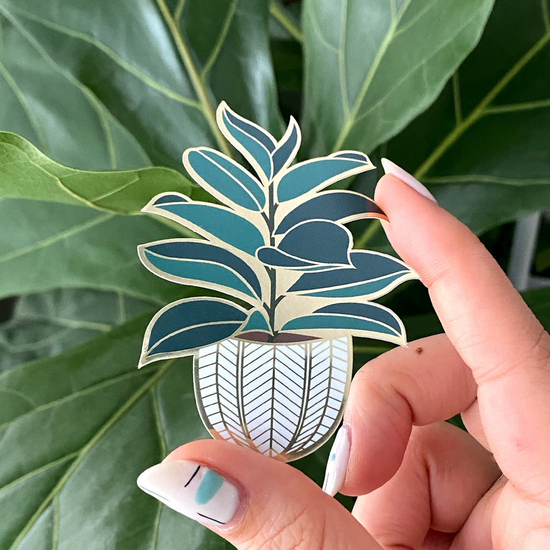 Rubber Tree Sticker