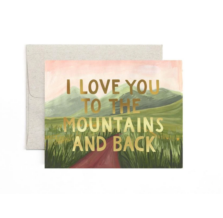 Mountains & Back Greeting Card