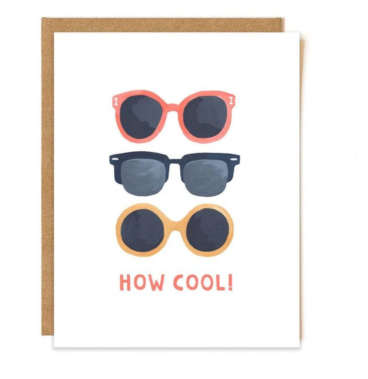 How Cool Sunglasses Greeting Card
