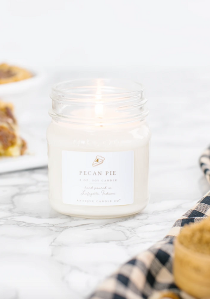 Pecan Pie 8oz Mason Jar Candle