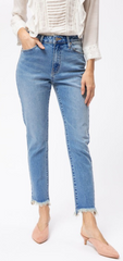 KanCan High Rise Straight Leg Jean (Allison)