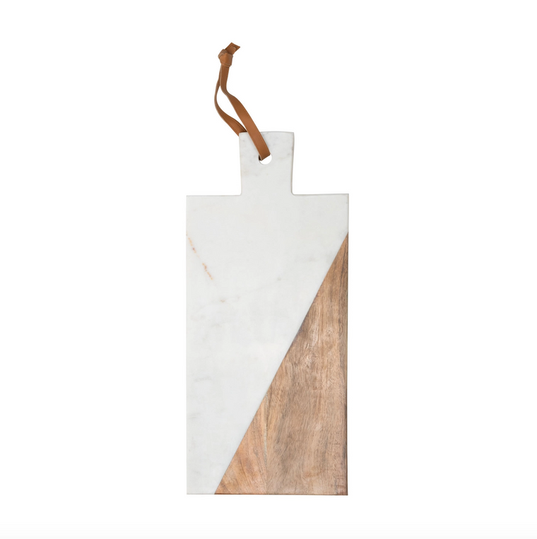 White Marble Wood Cutting Board