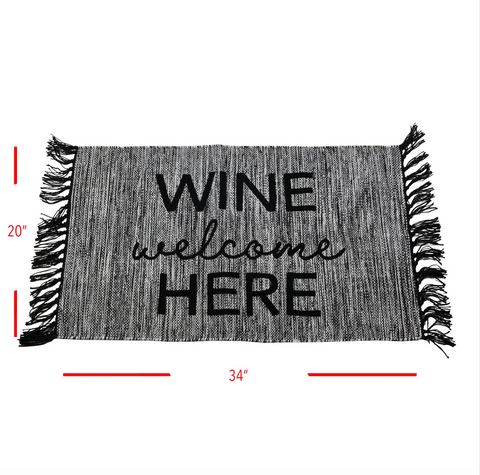 Wine Welcome Here Rug