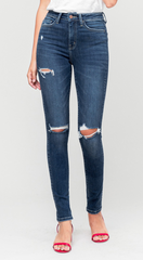 Flying Monkey High Rise Distressed Jeans (Eliza)