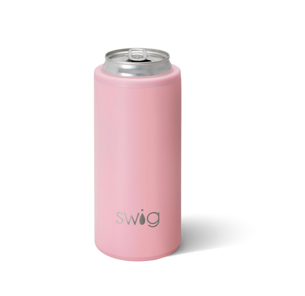 Swig Matte Blush Skinny Can Cooler
