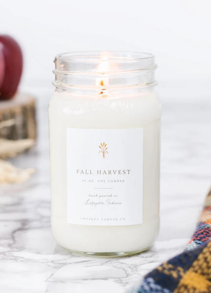 Fall Harvest 16oz Mason Jar Candle