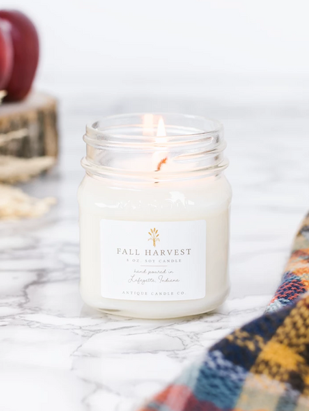 Fall Harvest 8oz Mason Jar Candle