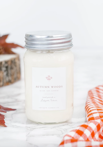Autumn Woods 16oz Mason Jar Candle