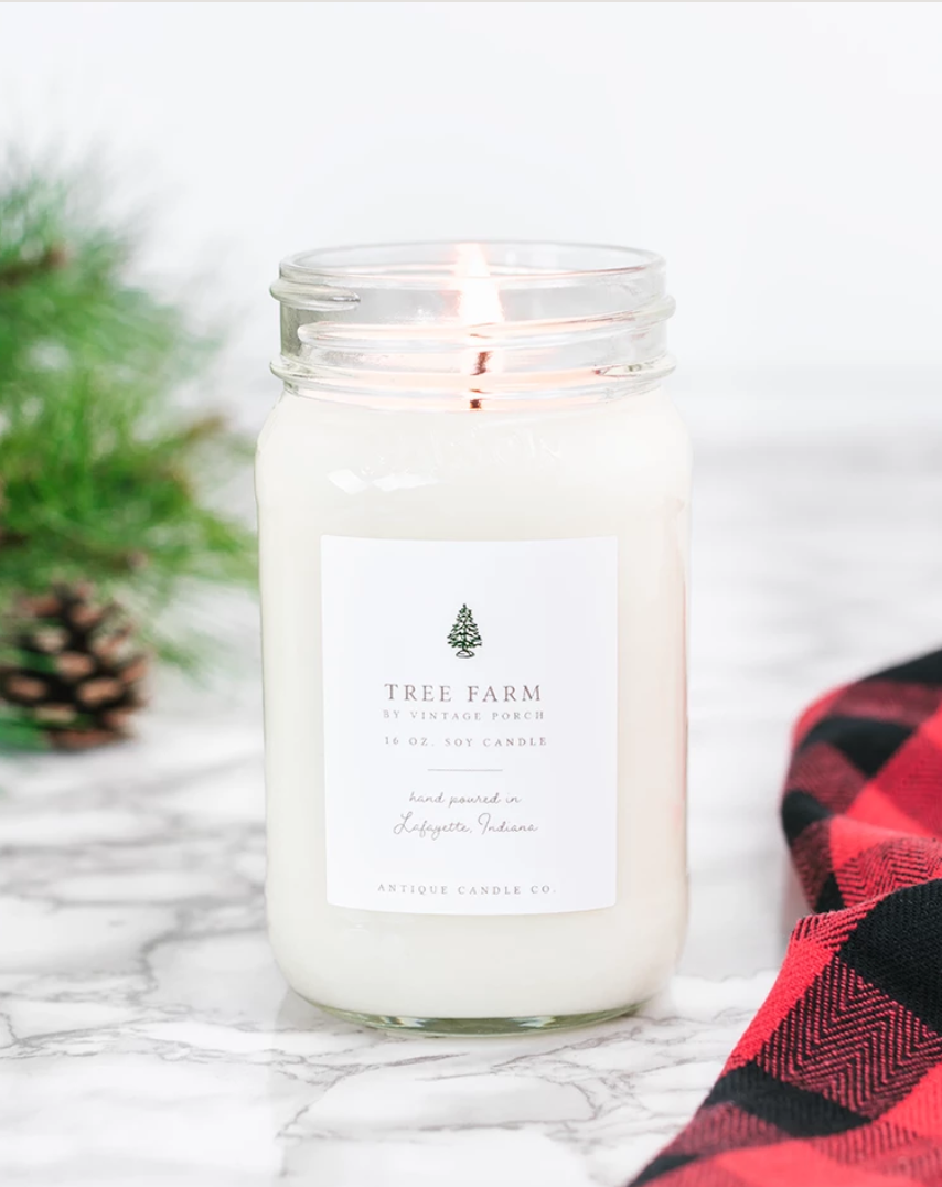 Tree Farm 16oz Mason Jar Candle