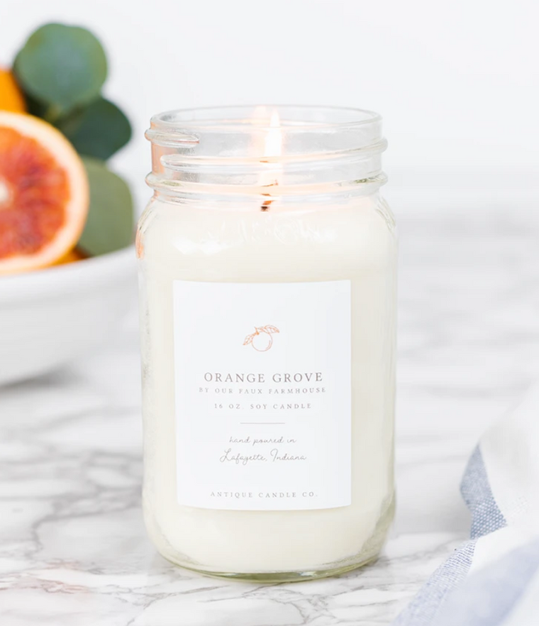 Orange Grove 16oz Mason Jar Candle