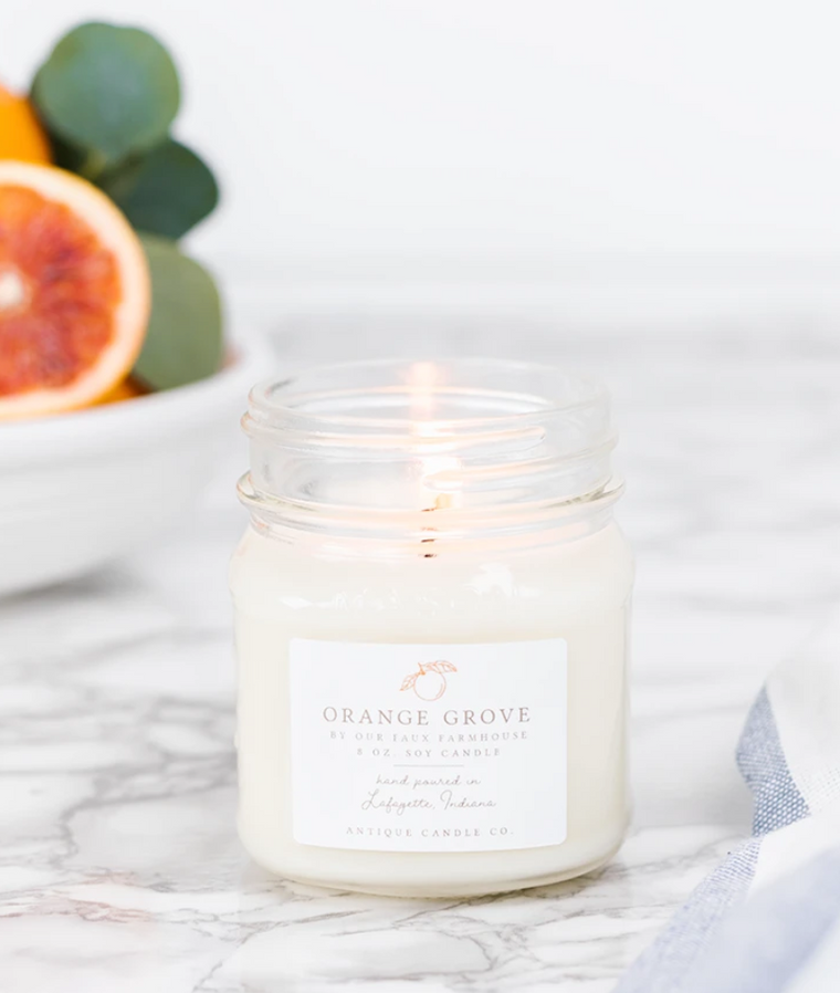 Orange Grove 8oz Mason Jar Candle