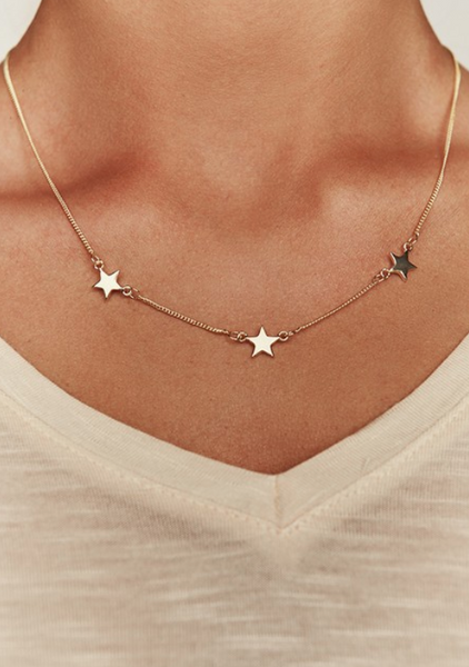 Stars Above Gold Necklace