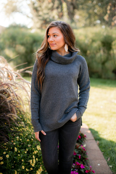 Snuggle Me Forever Sweater (Charcoal)