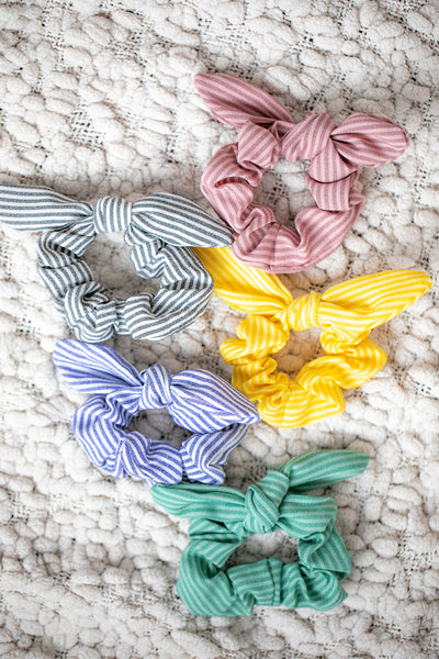 Spring Stripe Scrunchie