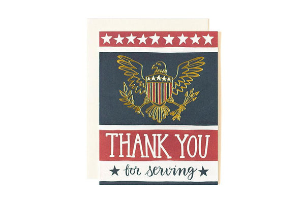 Thank You For Serving Greeting Card
