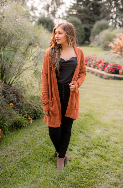 Thankful For You Cardigan (Copper)