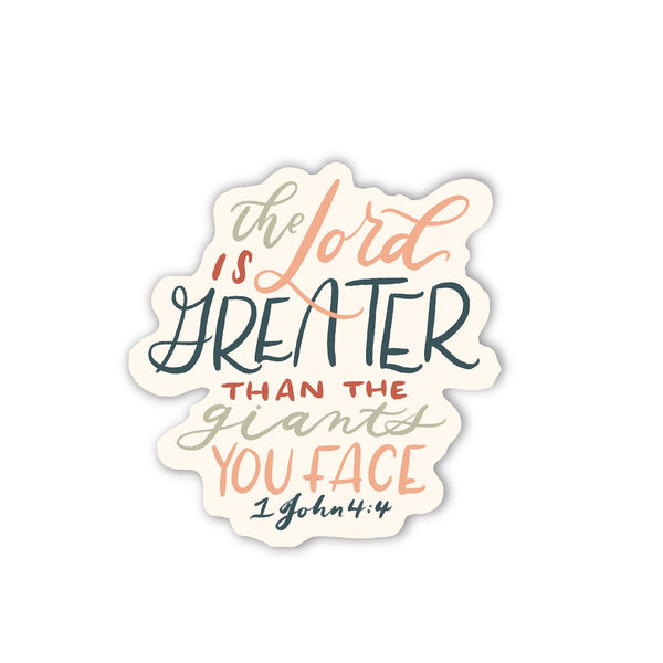 The Lord Is Greater Sticker