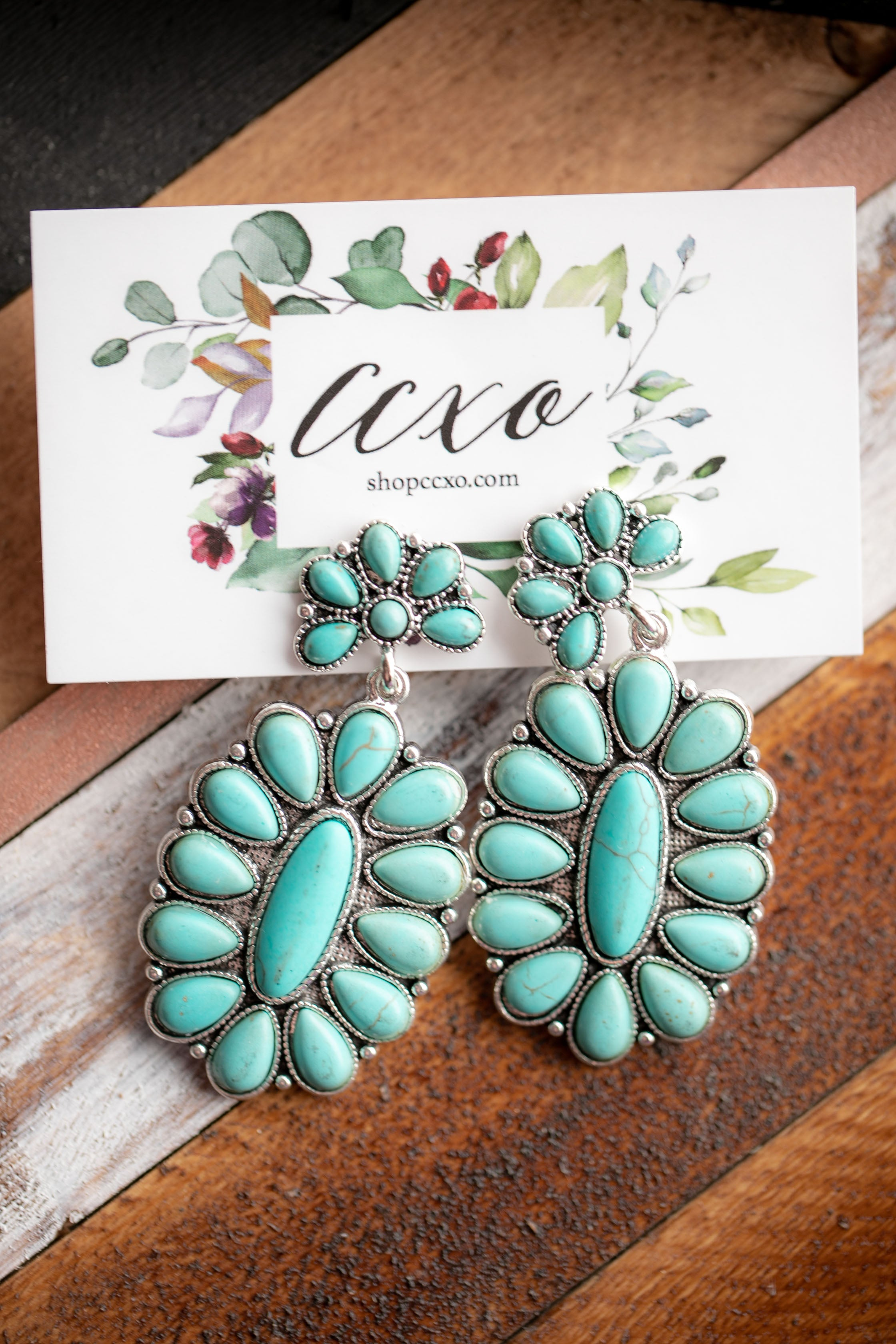 Turquoise Statement Earrings (Kennedy)