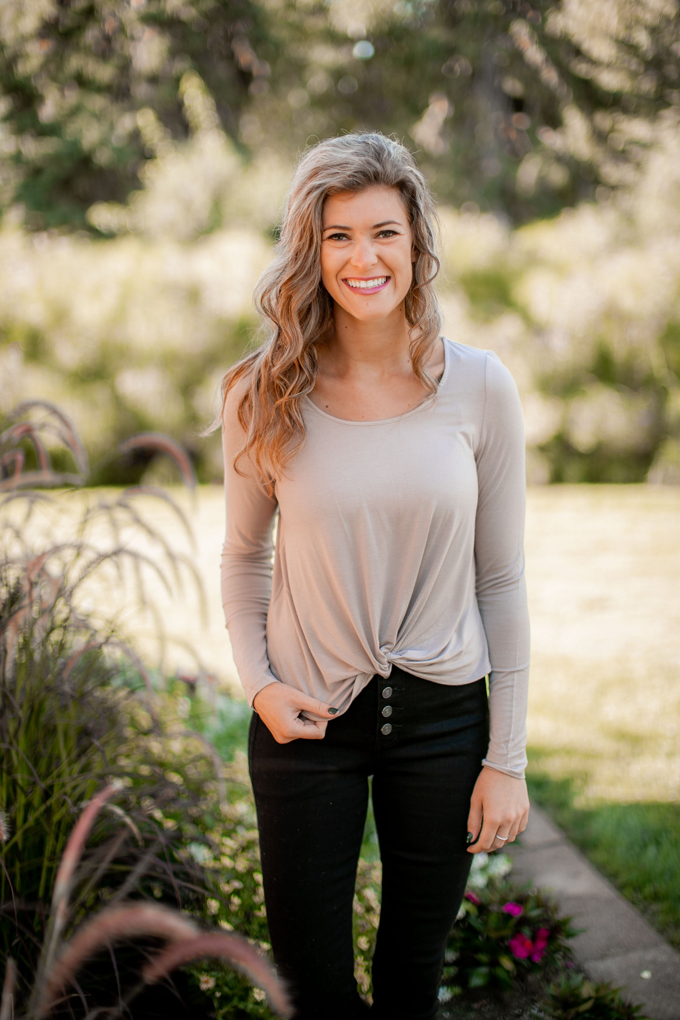 (SALE) Twisted Basic Long Sleeve (Taupe)