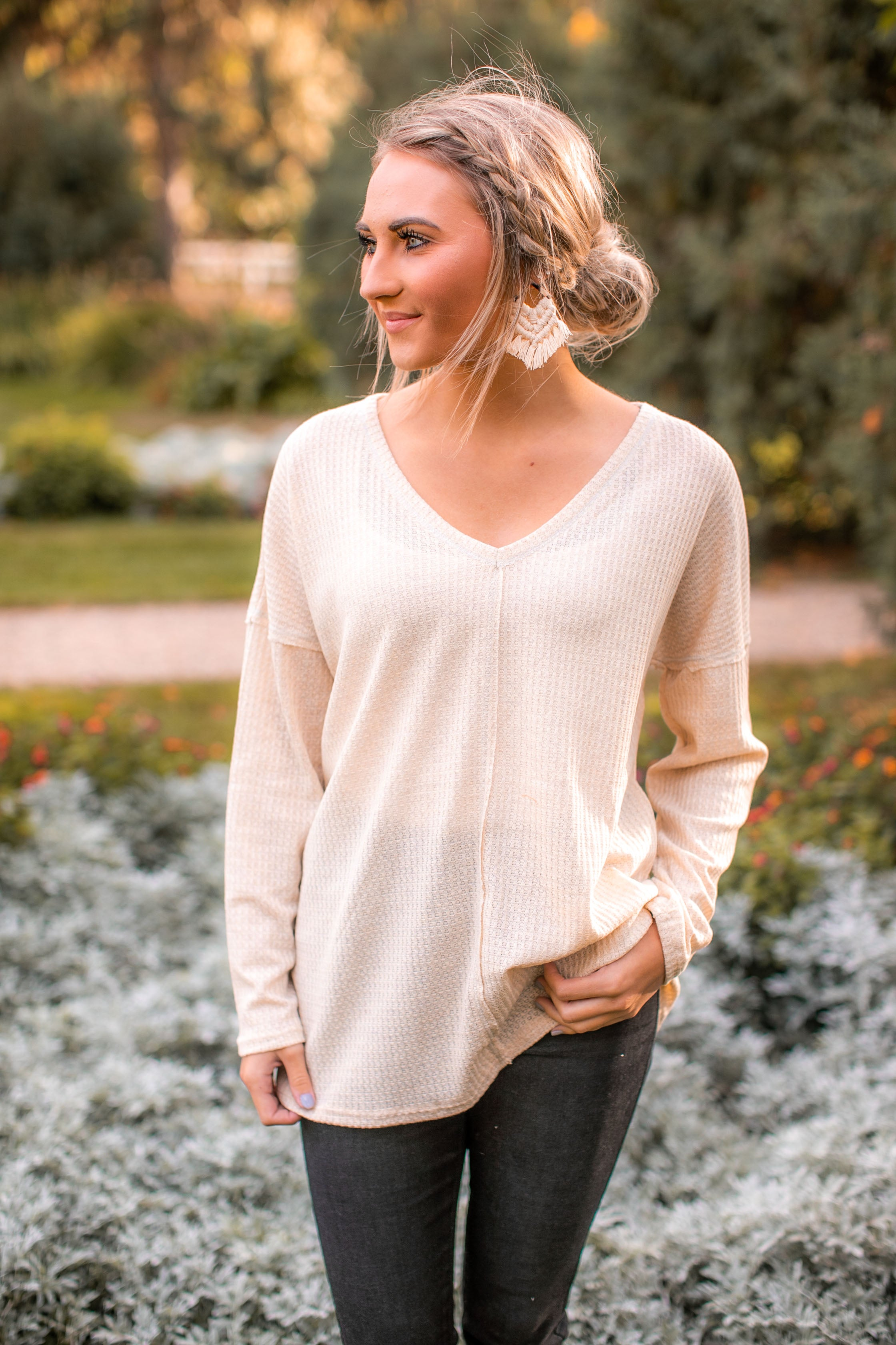 (DEAL OF THE DAY) Wandering Waffle Knit (Oatmeal)