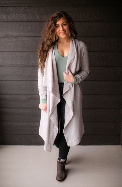 Walking In A Winter Wonderland Cardigan (Grey)