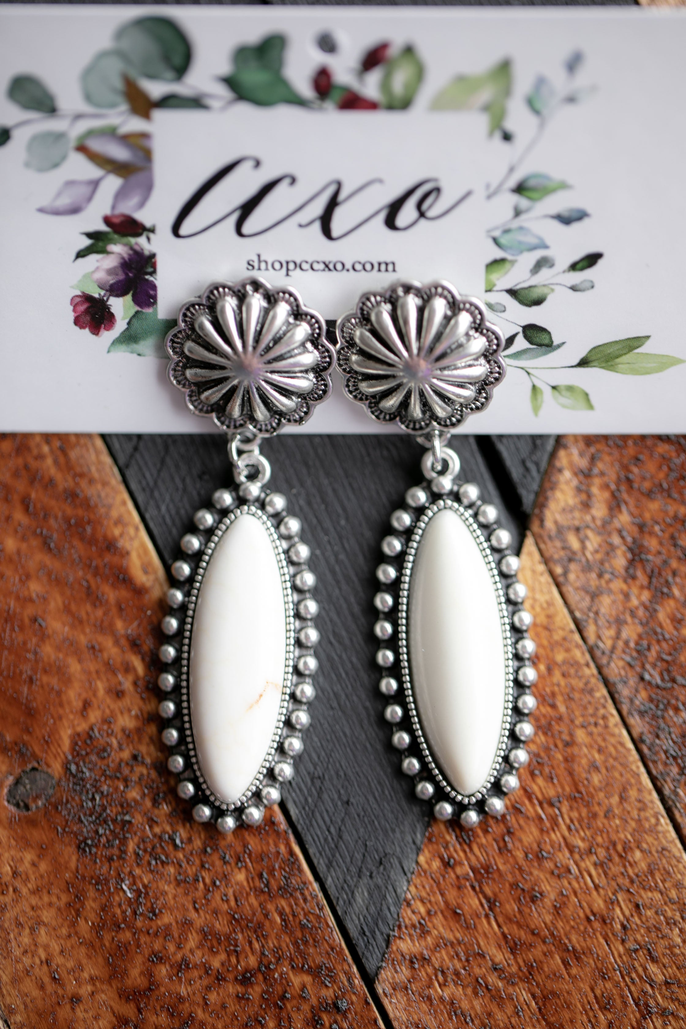 White Buffalo Earrings (Jacey)
