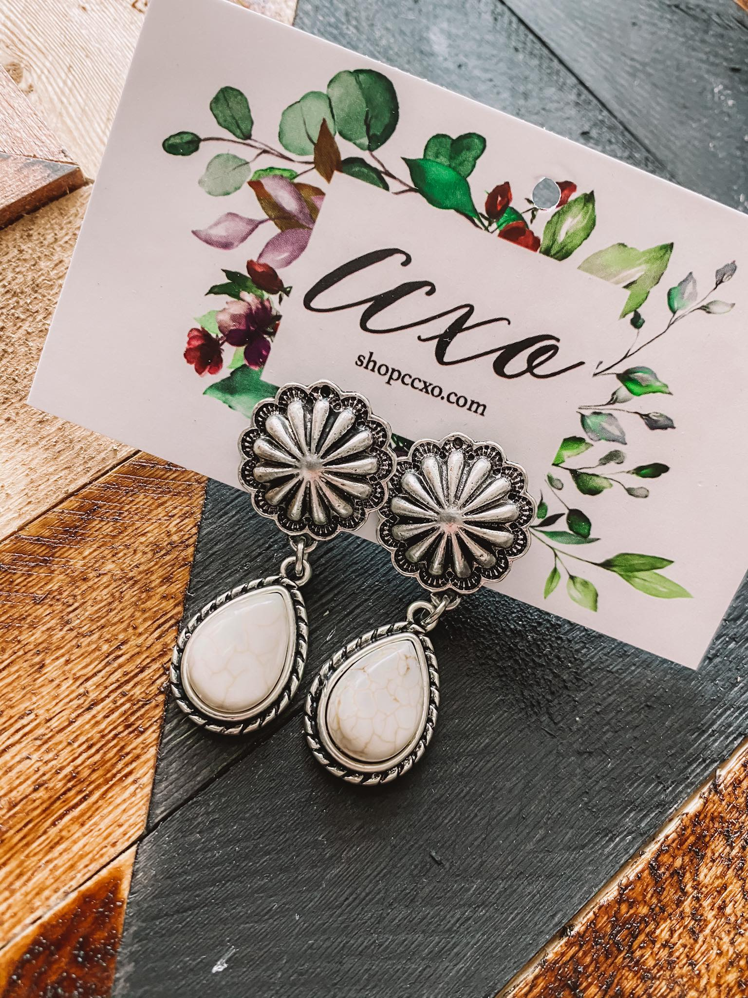 White Buffalo Rebel Earrings