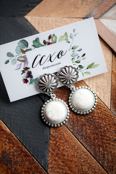 White Buffalo Earrings (Susie)