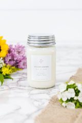 Wildflowers 16 oz Mason Jar Candle