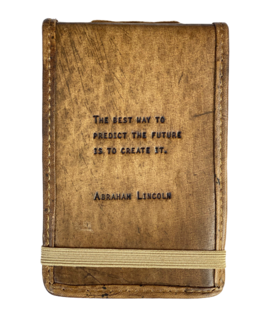 Leather Journal -- Abraham Quote