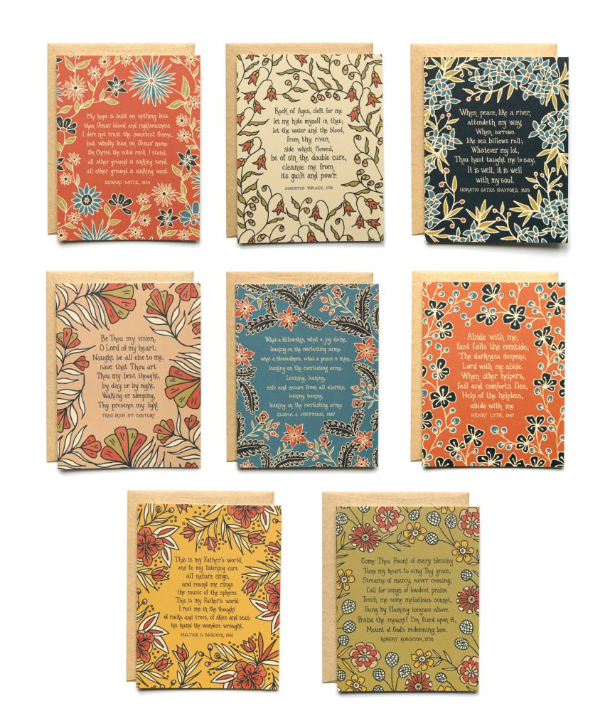 8 Hymn Greeting Cards -- Set #1