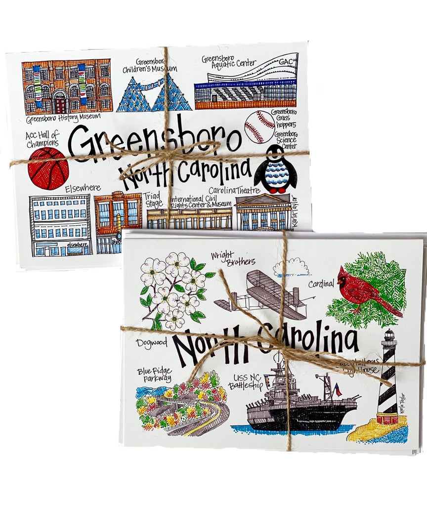 Greensboro/North Carolina Notecards