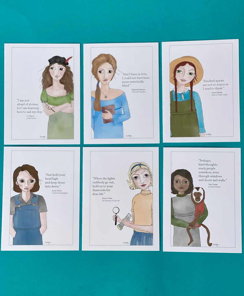Cindy Cage's Kinship Collection Set of 6 Notecards (Group 1)
