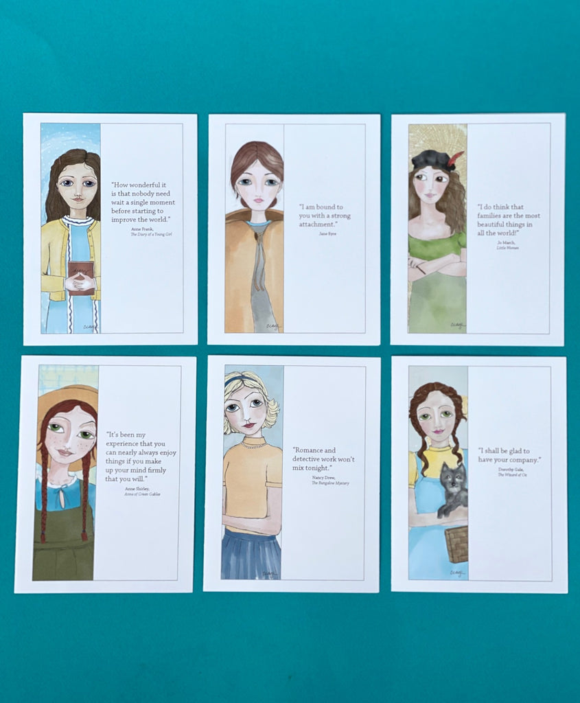 Cindy Cage's Kinship Collection Set of 6 Notecards (Group 2)