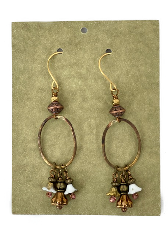 Earrings -- Stickmouse Copper and Jewels