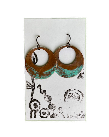 Earrings -- Cindy Cage Copper Hoops