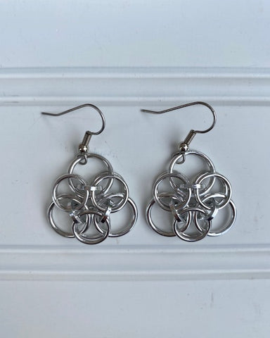 Earrings -- Ring Weaver Celtic Triangle