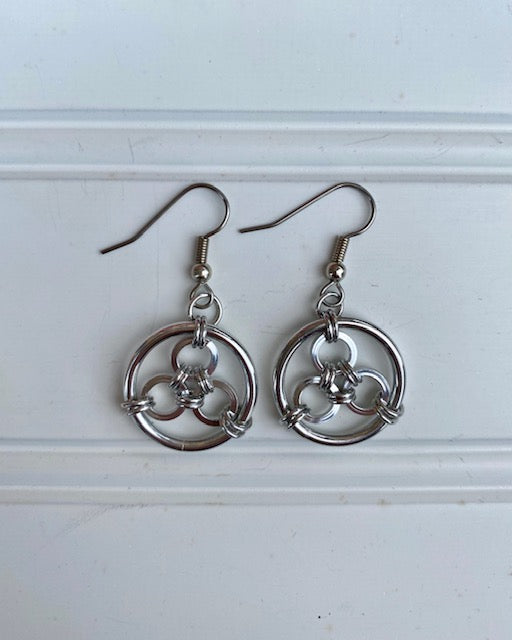 Earrings -- Ring Weaver 3x Bullseye