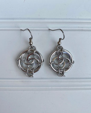 Earrings -- Ring Weaver Celtic Flower