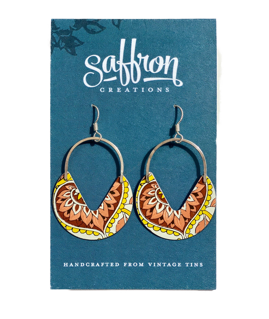 Saffron Earrings -- Keyhole
