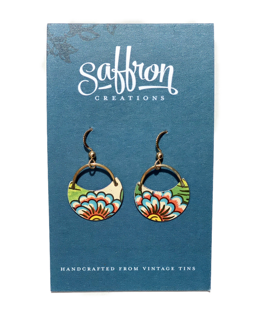 Saffron Earrings -- Crescent