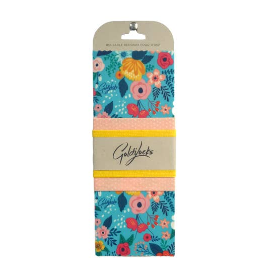 Spring Floral Goldilocks Beeswax Wrap (3 pack)