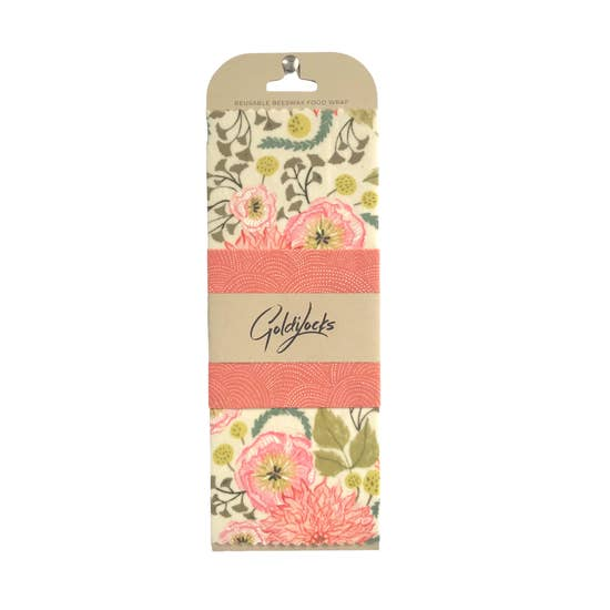 Pink Floral Beeswax Wrap (2 pack)