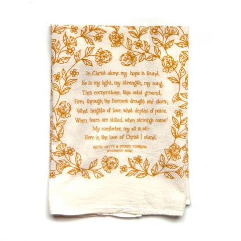 In Christ Alone Tea Towel
