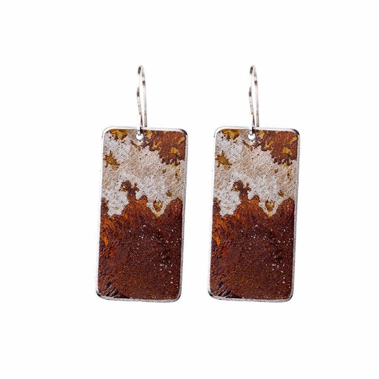 Ella Jude Large Rectangular Earrings