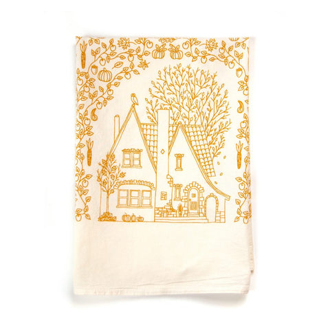 Four Seasons Tea Towel -- Fall